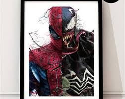 Spider Man Venom Art Print Spiderman Marvel Inspired Peter Parker Quote