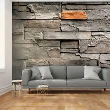 details zu vlies fototapete stein optik steinwand grau ziegel tapete wohnzimmer wandbilder