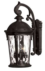 hinkley lighting 1898bk 20 75 height 3 light lantern outdoor wall