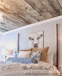 100 Wood On Ceilings A Lovely Country Bedroom Complete With En And Cow
