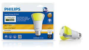 philips 423244 10 watt 60 watt l prize award winning led light