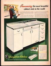 Vintage Youngstown Kitchen Sink Cabinet by Youngstown Kitchen Cabinets Ebay
