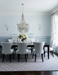 Grey And Blue Dining Room