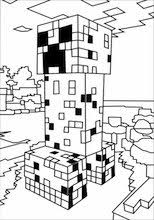 A Minecraft Creeper Coloring Page