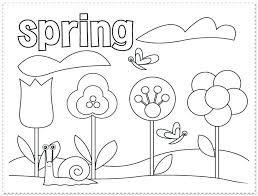 Coloring Sheets Spring Pages Free