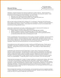 Resume Summary Samplesprofessional Examples For Nursing Profile