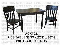 Oak Child Table And 2 Chairs