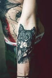 Sketchy Wolf Tattoo Design