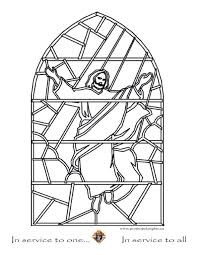 Stained Glass Coloring Pages