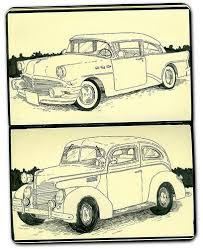A Drawing Of Old Car