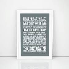 Pink Floyd fortably Numb Lyrics Poster Print Song Artwork