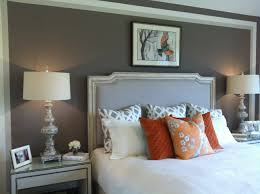 Love The Grey Paint White Quilt Orange Accents Master Bedroom