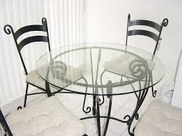 glass and wrought iron table and chairs pier 1 dining room set
