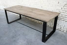 table a t005 giani desmet meubles indus bois métal et cuir