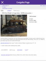 Projects - Cost Of A Model A Ford | The H.A.M.B. Fniture Magnificent Craigslist Florida Cars And Trucks By Used 2014 Harley Davidson Street Glide Motorcycles For Sale Peterbilt 335 Dump Truck For Sale Companies In Jacksonville Fl Bangshiftcom A Mustangonly Junkyard Is Amazing Owner South Image 2018 Keys And Android Apps On Google Play New In Fl Less Than Ashtabula Ohio Deals Premier Ford Dealer Near