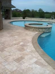 travertine pool decks are travertine pavers ok for pools two