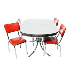 100 Red Formica Table And Chairs Furniture Prairie Lane