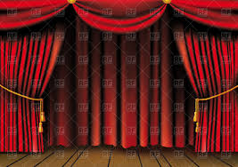 Absolute Zero Curtains Red by Theater Curtain Stage Curtain Blue Screen Clean Red Royalty Free