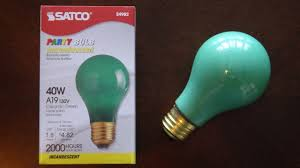 Satco 40watt Green Ceramic Light Bulb