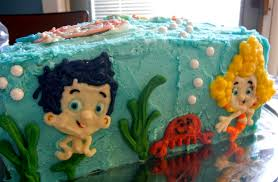 Bubble Guppies Cake Decorations by Sugar Swings Serve Some Bubble Guppies Cake With Cotton Candy