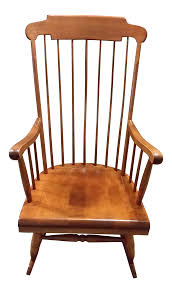 Nichols & Stone Solid Maple Boston Style Windsor Rocking Chair