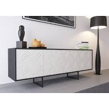 kommode sideboard lowboard anrichte wohnzimmer schrank abato zickzack dc schwarz