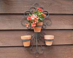 Hanging Flower Pot Rack Vintage Plant Holder Ring Garden