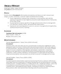 Office Receptionist Resume Medical Law