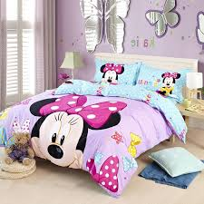 Purple Blue Stars Full and Queen Size Cotton Minnie Mouse Head