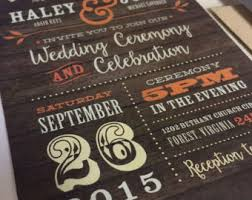 Rustic Fall Wedding Invitation Invite Color Wood