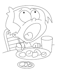 A Boy Is Eating Momos Coloring Page