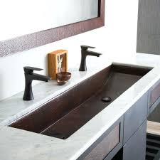 Two Faucet Trough Bathroom Sink by Bathroom Sink Double Faucet Trough Bathroom Sink Large Size Of