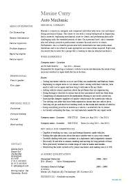 Motorcycle Mechanic Resume Examples As Well Sample Auto Vehicles Car