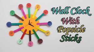 DIY Popsicle Stick Clock