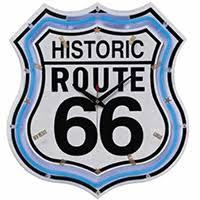 route 66 store neon wand uhren