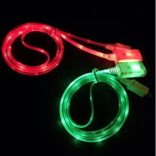 3Ft USB iPhone 6 5 5S 5C Data Sync Flowing LED Light up Charger Cable
