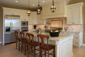 We Love The Large Stately Island In This Kitchen Topped With Light Granite And