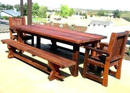 Outdoor Wood Table Round Patio Tops Wooden Outside