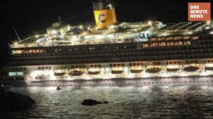 cruise ship sinking off coast of italy 3 dead and dozens missing