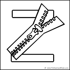 Alphabet Coloring Page Letter Z Zipper Printables For Kids Free Word Search Puzzles Pages And Other Activities
