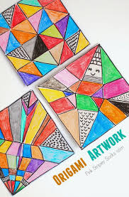 Make Easy Origami Artwork With Kids