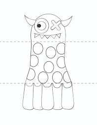 Free Kids Craft Template Make Your Own Monsters Print Cut