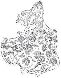 Cartoon Barbie Coloring Pages Printable