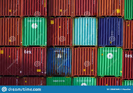 100 Shipping Containers California Bright Stack Of Steel Cargo At Busy Harbor