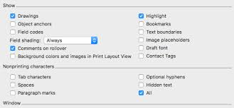 I Use The Formatting Marks All Time In Microsoft Word For Mac