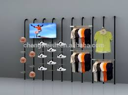 Retail Clothes Sports Shop Display Perfect Design Cool Hanger Rack