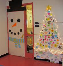 Unique Christmas Office Door Decorating Idea by Backyards Christmas Doors Decorations Ideas Best Door Snowman