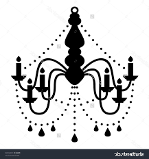 Gold Chandelier Clip Art Stock Vector Silhouette Isolated On White 103669928 Plans