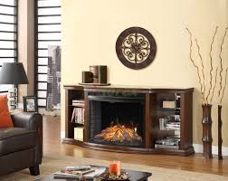 Curved Glass Curio Cabinet by Contessa Curio Cabinet Fireplace Mantel W Curved Firebox Xiorex