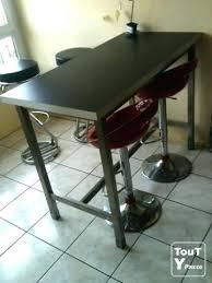 table de cuisine haute avec tabouret table haute avec tabouret de bar mrsandman co